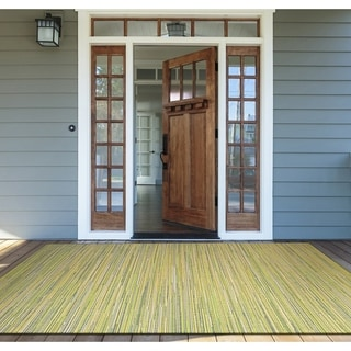 Samantha Yacht Sand-Lemon-Lime Indoor/Outdoor Rug - 3'9 x 5'5
