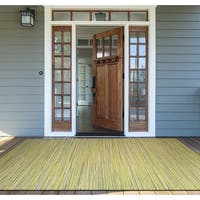 Samantha Yacht Sand-Lemon-Lime Indoor/Outdoor Rug - 3'9 x 5'5