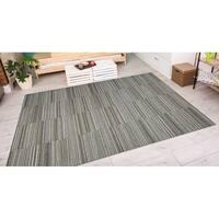Vector Kennedy Black-Gold  Indoor/Outdoor Area Rug - 5'3 x 7'6