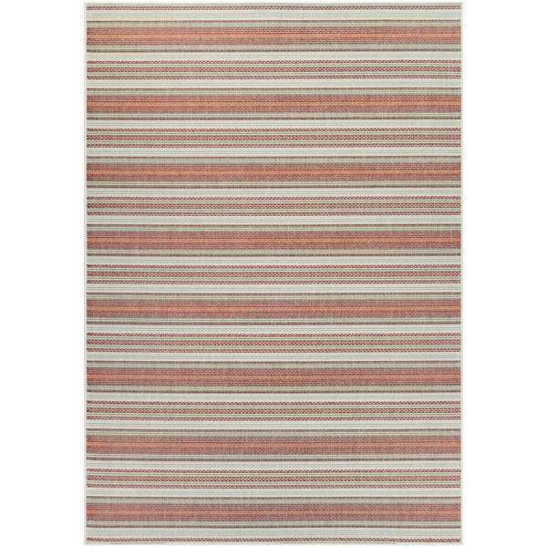 Monaco Marbella/ Coral Ivory Pewter Area Rug (7'6 X 10'9) - 7'6 x 10'9