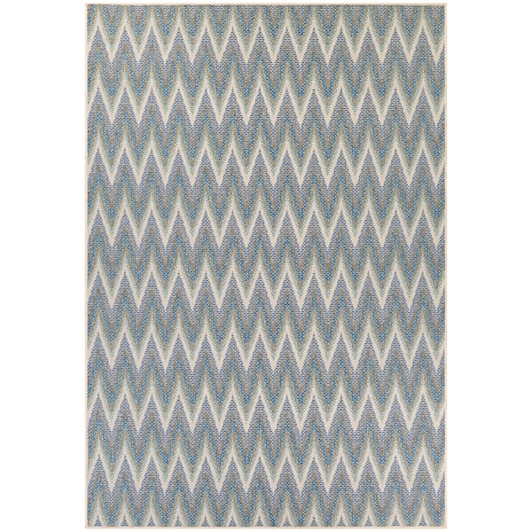 Monaco Avila/ Ivory Sand Azure Area Rug (7'6 X 10'9) - 7'6 x 10'9