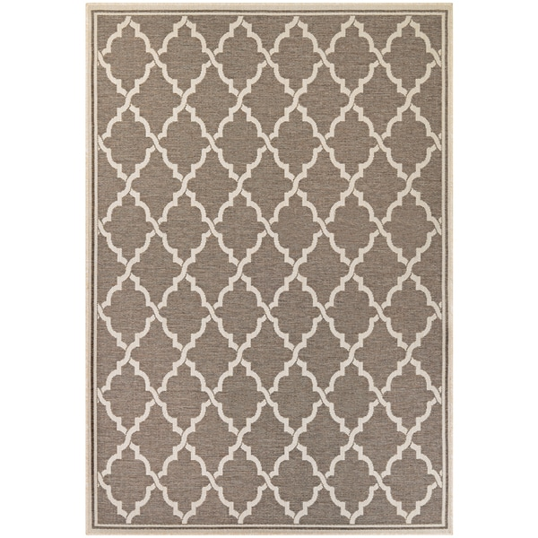 Samantha Casbah/ Taupe-Sand Indoor/Outdoor Rug - 7'6 x 10'9