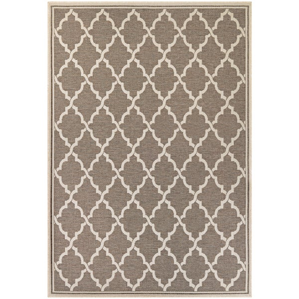 "Samantha Casbah/ Taupe-Sand Indoor/Outdoor Rug - 8'6"" x 13'"