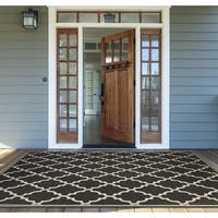 "Monaco Ocean Port/ Black Sand Area Rug - 7'6"" x 10'9"""