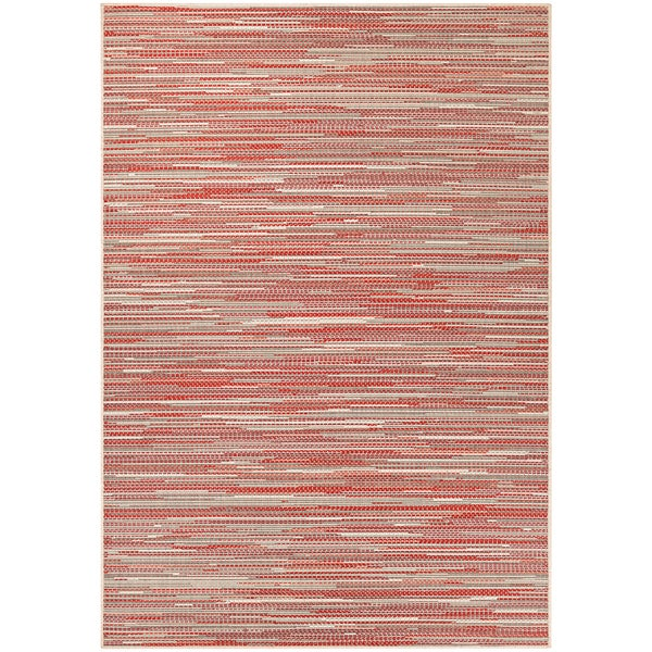 Samantha Yacht Sand-Maroon-Salmon Indoor/Outdoor Area Rug - 8'6 x 13'