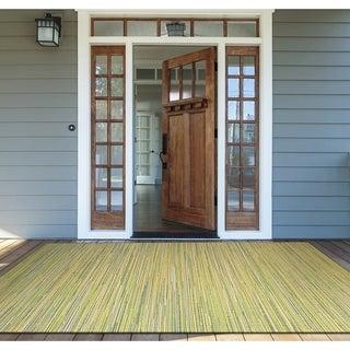 "Samantha Yacht Sand-Lemon-Lime Indoor/Outdoor Area Rug - 7'6"" x 10'9"""