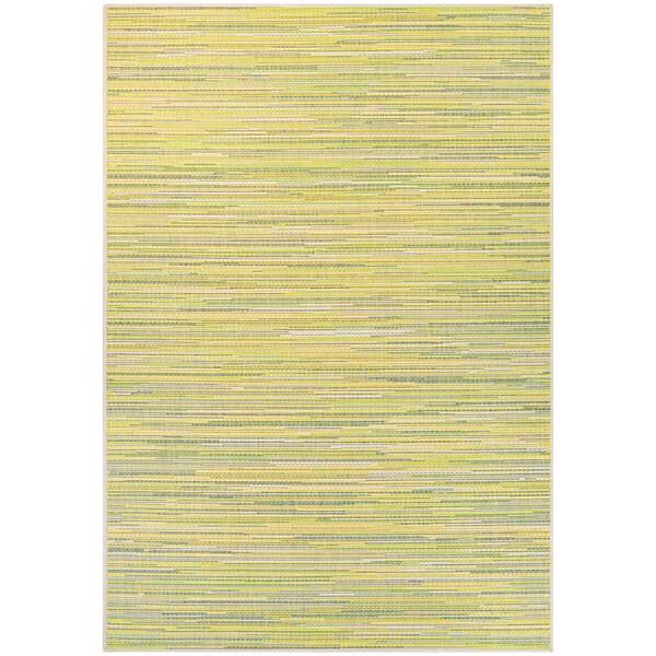 Samantha Yacht/ Sand-Lemon-Lime Indoor/Outdoor Rug - 8'6 x 13'