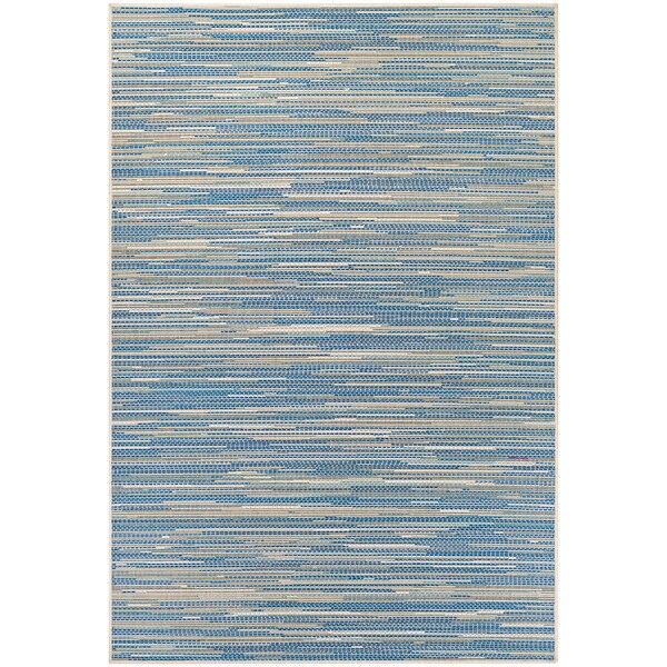 """Samantha Cannes Sand/Azure/Turquoise Outdoor Area Rug - 8'6"""" x 13'"""