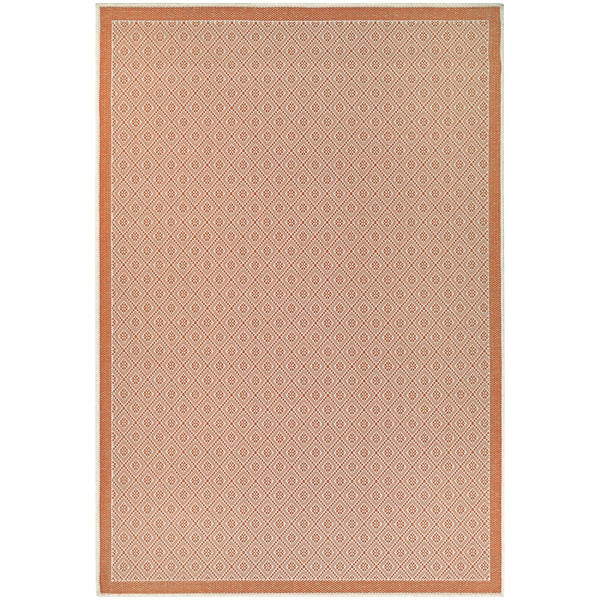 Monaco Sea Pier Sand Salmon Indoor/Outdoor Rug - 8'6 x 13'