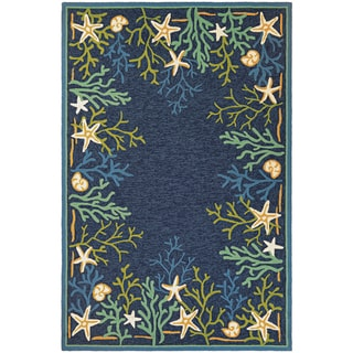 Picadilly Coral Reef Blue-Green Indoor/Outdoor Area Rug - 8' X 11'