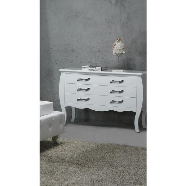 Cheap Furniture Free Shipping: Modrest Monte Carlo White Dresser