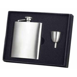Visol Clarity Brushed Stainless Steel Flask and Funnel Gift Set