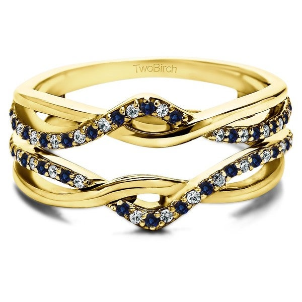 Sapphire And Diamond Ring Guard