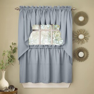 Opaque Ribcord Kitchen Curtain Pieces - Tiers/ Valances/ Swags (More options available)