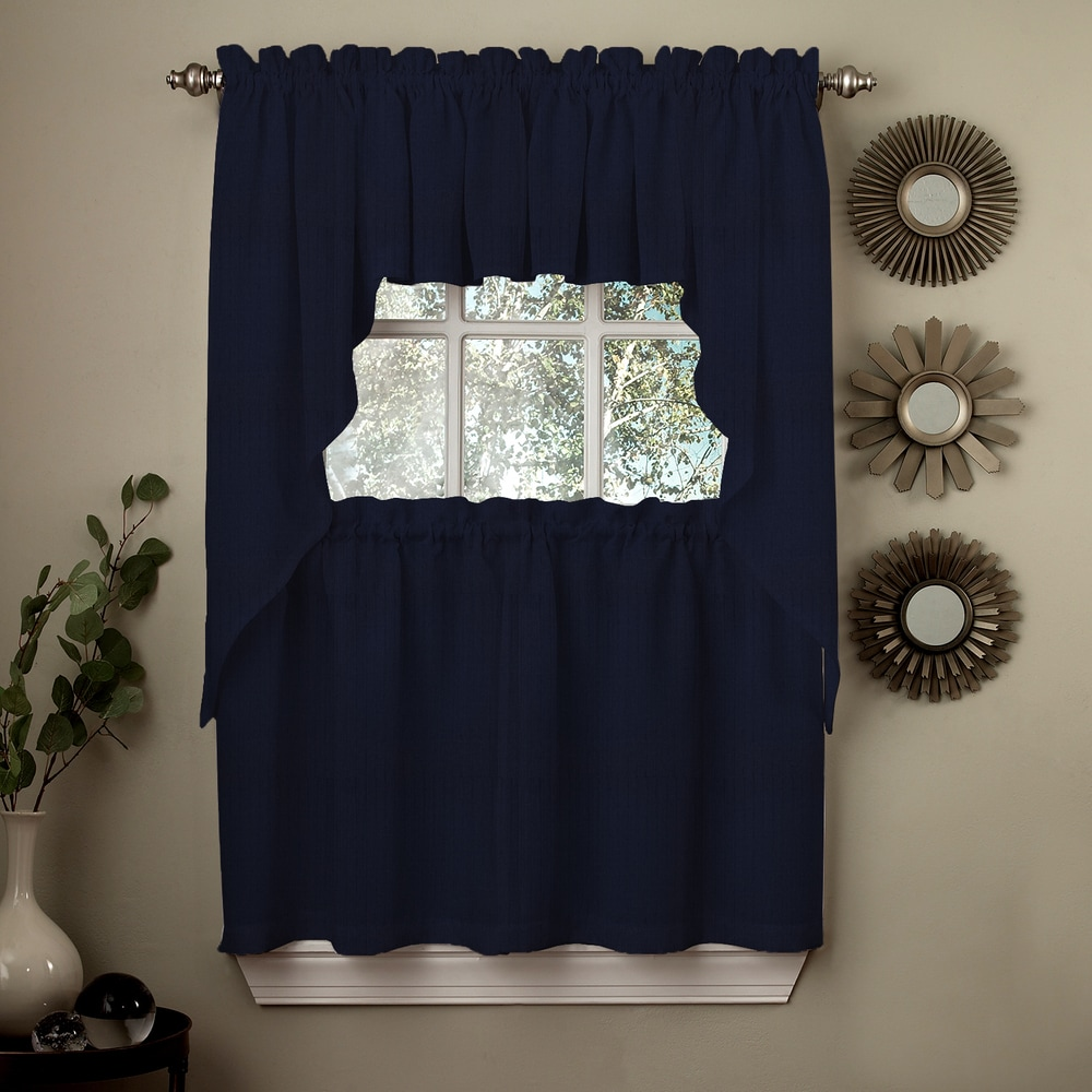 Shop Opaque Ribcord Kitchen Curtain Pieces - Tiers/ Valances/ Swags - 10026320