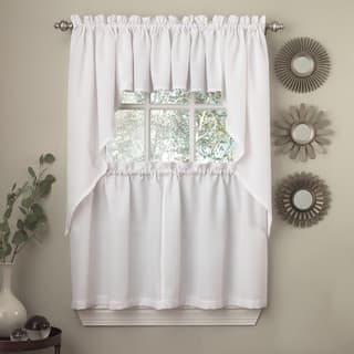 Opaque Ribcord Kitchen Curtain Pieces