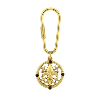 Vatican Library Collection Goldtone Fleur De Lis Keychain