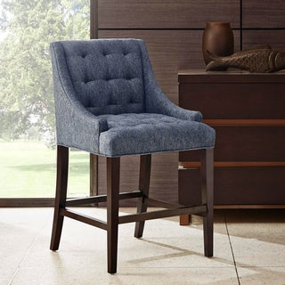 Madison Park Nora Riley Blue Slope Arm Counterstool