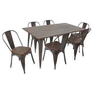 Oregon 7-piece Rustic Dining Set