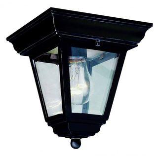 Cambridge Black Finish 1-light Flush Mount with Clear Beveled Shade