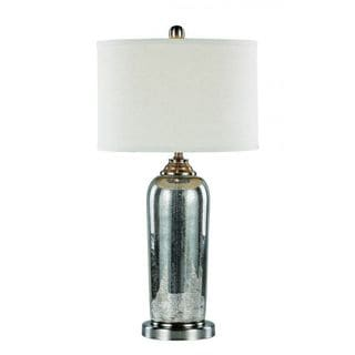 Cambridge 1-light Brushed Nickel 30.5-inch Table Lamp with White Linen