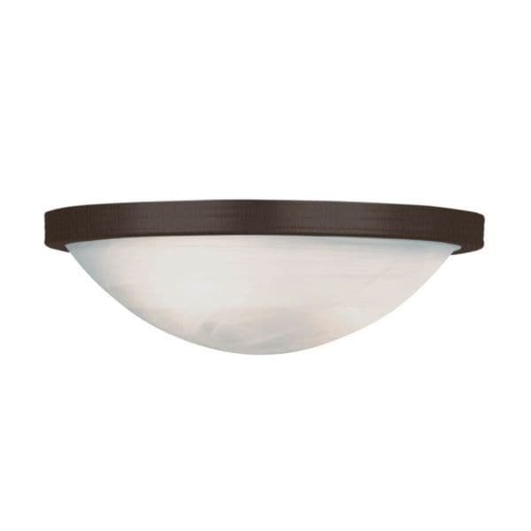 Cambridge 1-light Rubbed Oil Bronze 15-inch Wall Sconce with Marbelized Glass