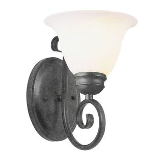 Cambridge 1-light Pewter 7-inch Wall Sconce with Marbelized Glass