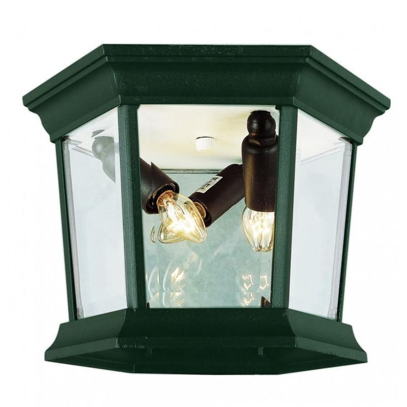 Bel Air Cambridge Verde Green Finish 3-light Flush Mount ...
