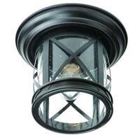 Chandler Rubbed Oil Bronze 1-light Flushmount Lantern