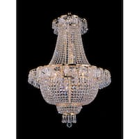 Empire 9-light Gold and Crystal Chandelier