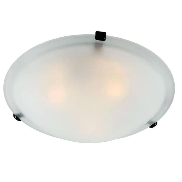 Cambridge Rubbed Oil Bronze 3-light Flush Mount with Marbelized Shade