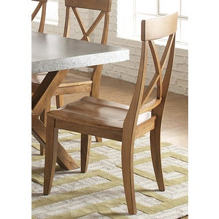 Liberty Keaton Maple Rubberwood X-back Dining Chair