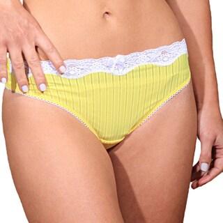 Prestige Biatta Microfiber Sheer Stripe Thong