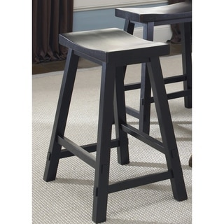 Creations Lifestyle Black Sawhorse 24 Inch Counter Height Barstool
