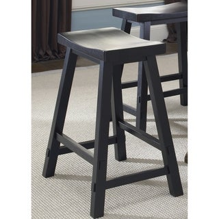 The Gray Barn Mendosa Black Sawhorse Barstool