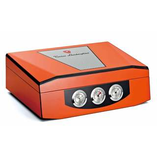 Tonino Lamborghini Orange Lacquer 100-capacity Cigar Humidor