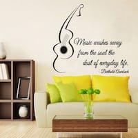 Music Quote Sticker Vinyl Wall Art