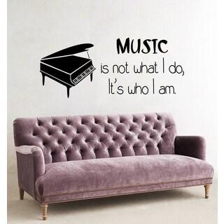 Inspirational Music Quote Sticker Vinyl Wall Art