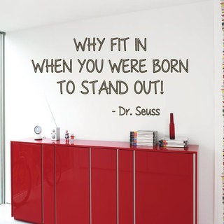 Dr. Seuss Quote Sticker Vinyl Wall Art