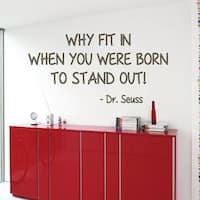 Dr. Seuss Quote Sticker Vinyl Wall Art
