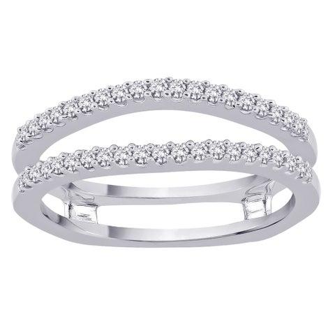 14k White Gold 1/3ct TDW Diamond Enhancer Ring