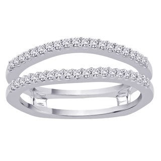 14k White Gold 1/3ct TDW Diamond Enhancer Ring (G-H, I2-I3)