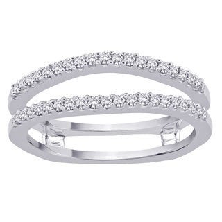 14k White Gold 1/3ct TDW Diamond Enhancer Ring