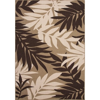 Jaipur Living Indoor-Outdoor Bloom Brown Floral Rug (5'3 x 7'6)
