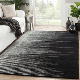 Hand-Tufted Stripe Pattern Black/Grey (5' x 8') AreaRug