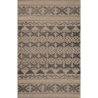 Hand-Tufted Argyle Pattern Grey/Grey (5' x 8') AreaRug