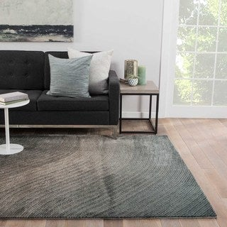 "Wave Abstract Teal Area Rug (5' X 7'6"")"