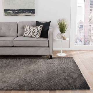 """Wave Abstract Gray Area Rug (5' X 7'6"""")"""