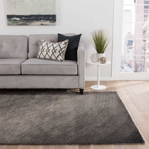 """Wave Abstract Gray Area Rug (5' X 7'6"""") - 5' x 7'6"""""""
