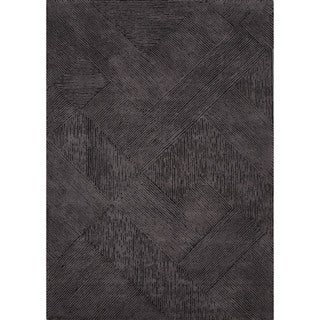 Hand-Tufted Solid Pattern Black/Black (8' x 10') AreaRug